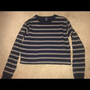 Striped Cropped Crewneck